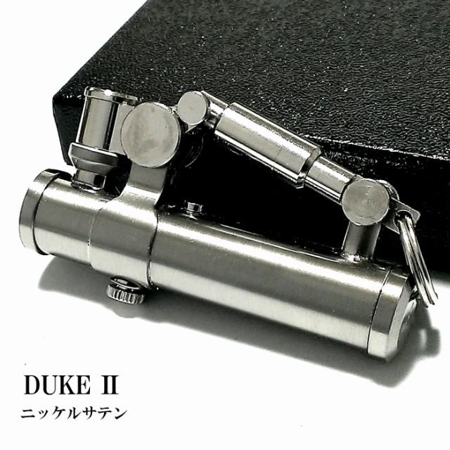 オイルライター DUKE2 ニッケルサテン シルバー デューク かっこいい レトロ 無地 日本製 フリント 銀 メンズ ブランド おしゃれ ギフト