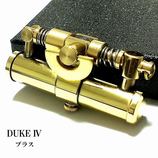 オイルライター DUKE4 ブラス レトロ デューク 日本製 おしゃれ かっこいい 無地 フリント メンズ ブランド ギフト プレゼント