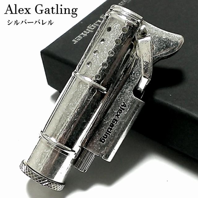 アレックス ガトリングライター オイルライター シルバーバレル 屋外 ミリタリー おしゃれ レトロ 日本製 かっこいい ワイルド メンズ ブ