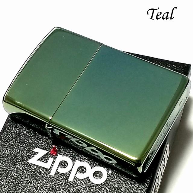 ZIPPO ライター ティール グリーン ジッポ 無地 シンプル スタンダード 鏡面 緑 かっこいい おしゃれ 定番 メンズ ギフト