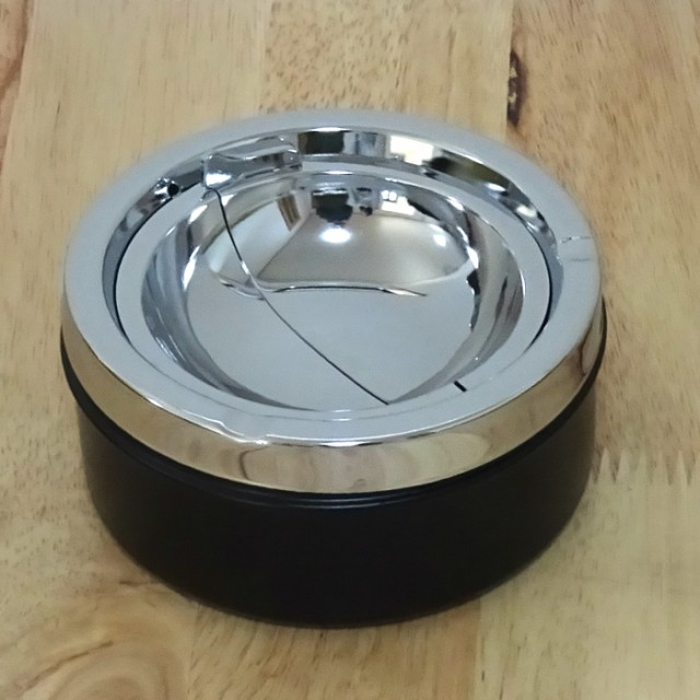卓上灰皿 PA サークルプッシュ灰皿 おしゃれ 灰皿 蓋付き インテリア タバコ 雑貨 喫煙具 プレゼント ギフト メンズ