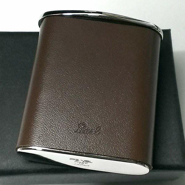 携帯灰皿 おしゃれ タスカ ブラウン レザー 日本製 PEARL 牛本革 茶 国産 ブランド メンズ レディース プレゼント ギフト 屋外
