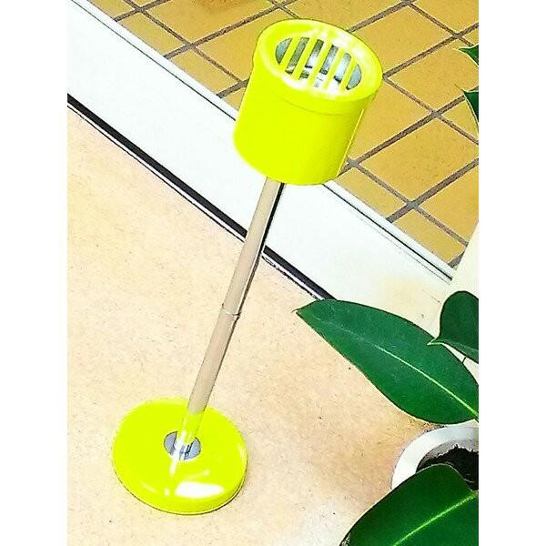 スタンド灰皿 おしゃれ イエロー スタンドパイプ灰皿 インテリア 黄色 可愛い かわいい 屋外 オフィス トイレ 店舗