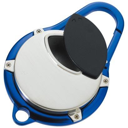 携帯灰皿 カラビナアシュトレイ ブルー おしゃれ アイコス メンズ 屋外 灰皿 ギフト