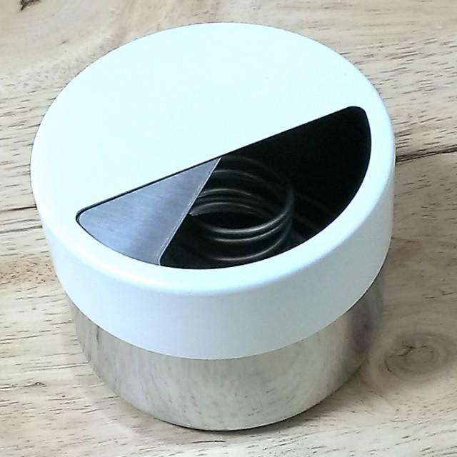 セーフティアッシュトレイ 灰皿 ステンレス製 フタ付きおしゃれ 卓上灰皿 インテリアにも