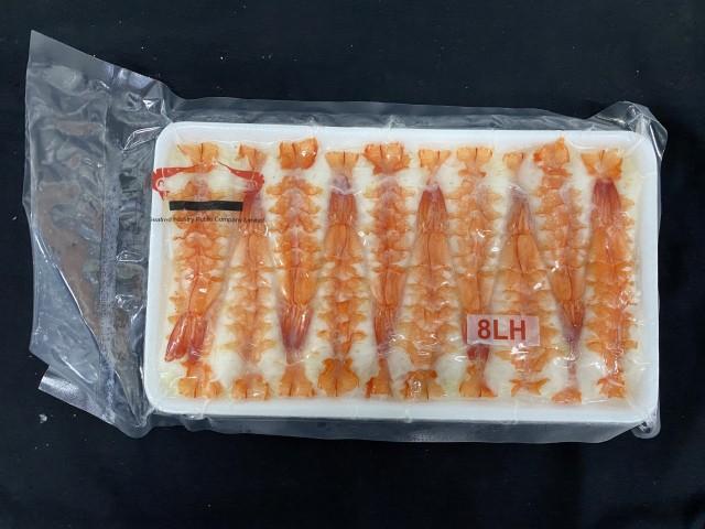 寿司海老 バナメイ 頭肉付 8LHサイズ 20枚入り 205グラム 冷凍 業務用 【エビ】