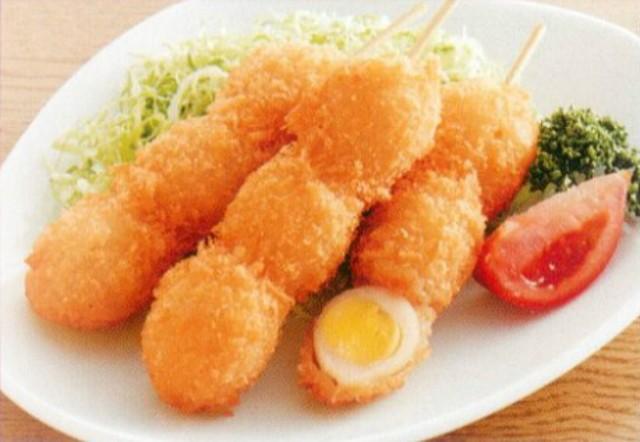 うずら串フライ 3個串 45g×20本入り 冷凍 業務用 【惣菜】
