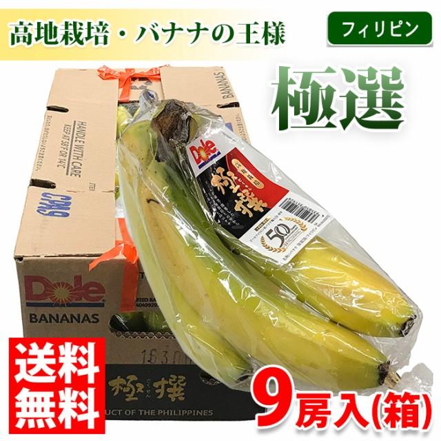 【送料無料】フィリピン産 バナナ 極選(ハイランド) 9房入り/箱