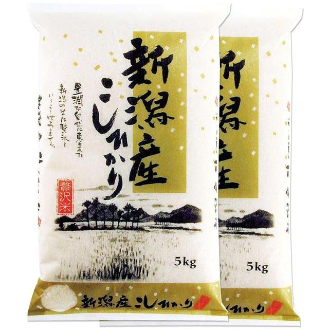 新米 新潟 コシヒカリ 10kg 送料無料 新潟県 令和2年産 (米/白米 5kg×2)