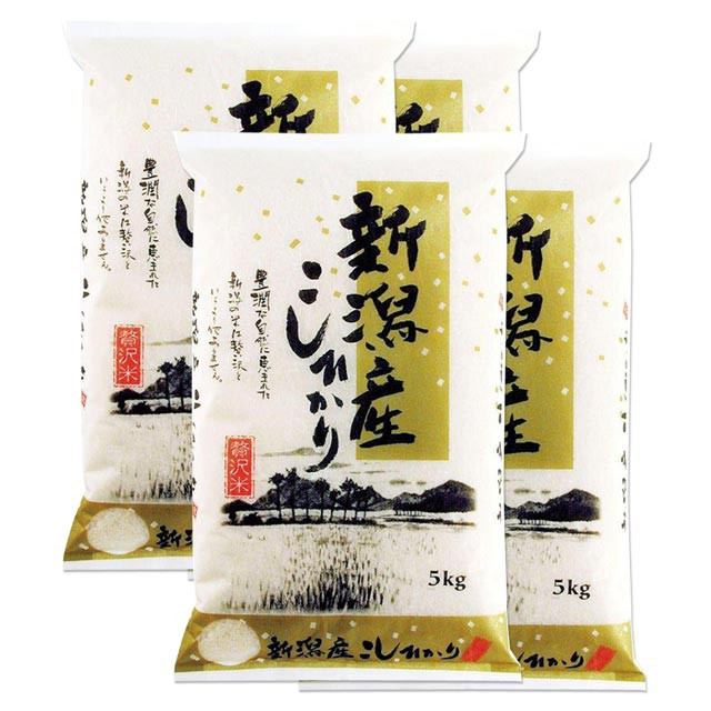 新潟 コシヒカリ 20kg 送料無料 新潟県 令和2年産(こしひかり/米/白米 5kg×4)