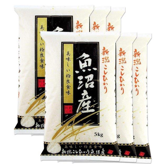 魚沼産コシヒカリ 30kg 送料無料 新潟県 魚沼産 令和元年産コシヒカリ (米/白米/特a/特a米 5kg×6)