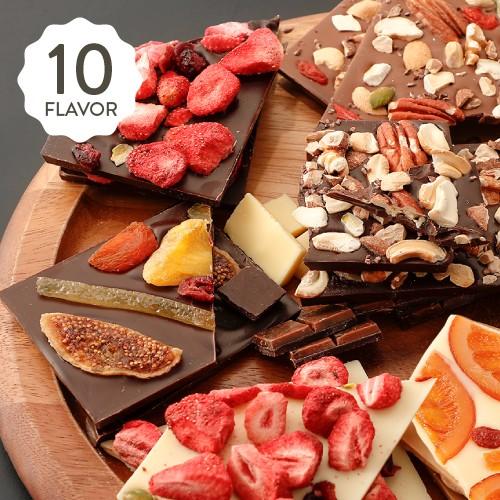 バレンタイン タブレットショコラ ルビー・ドライフルーツ・ナッツたっぷり♪ 美味しいチョコレート