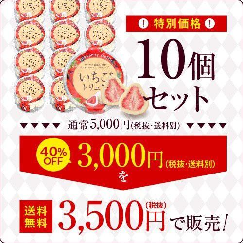 【訳アリ品 送料無料】※賞味期限2020年8月1日※まとめ買い10個セット いちごトリュフ チョコレート チョコ マキィズ 人気 チョコトリュ