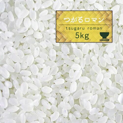 新米 米 5kg 青森県産 2年産 つがるロマン 白米5kg 精米 送料無料【米5キロ】