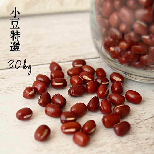 豆 30kg 青森県産 2年産 小豆特選 30kg【小豆30キロ】国産 あずき