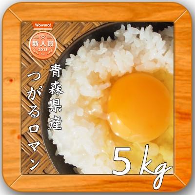 【1年産 青森県産 つがるロマン 白米5kg】 安い 5キロ オリジナル 米 5kg 送料無料 人気 お米 精米