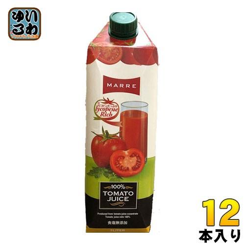 バハール マルレ 100% トマトジュース(無塩) 1L 紙パック 12本入
