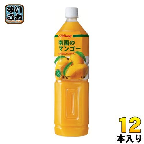 チルソン 南国のマンゴー 1.5L ペットボトル 12本 (6本入×2 まとめ買い)