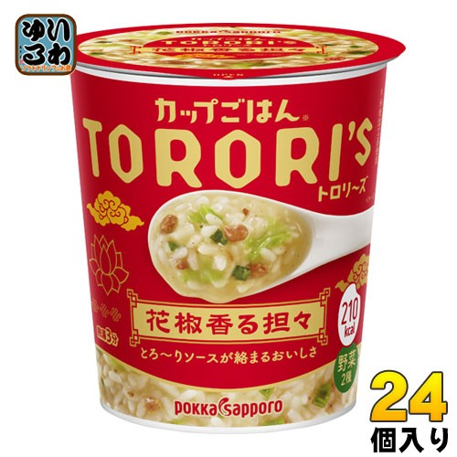 ポッカサッポロ カップごはん トロリーズ 花椒香る担々 24個 (6個入×4 まとめ買い)
