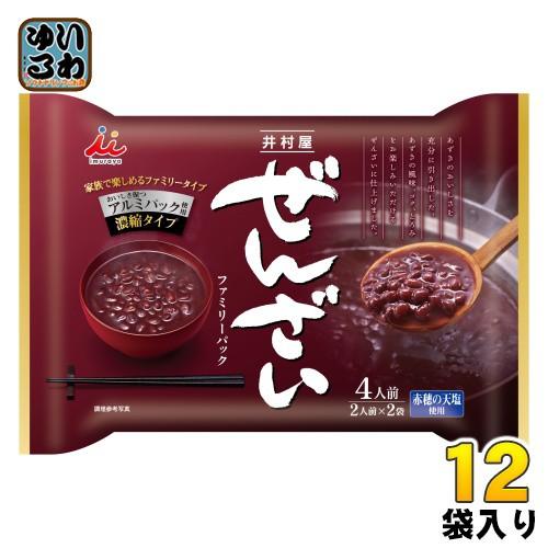 井村屋 ぜんざい ファミリーパック 400g (200g×2袋) 12袋入