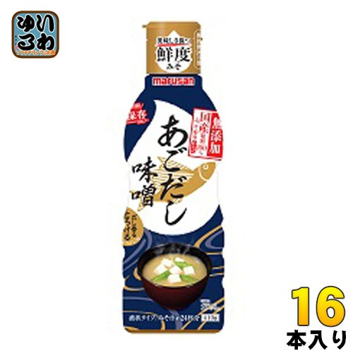 マルサン だし香るとろける味噌 国産原料100%みそ使用 あごだし 410g ペットボトル 16本 (8本入×2 まとめ買い)
