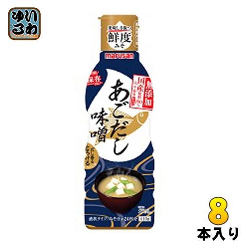 マルサン だし香るとろける味噌 国産原料100%みそ使用 あごだし 410g ペットボトル 8本入