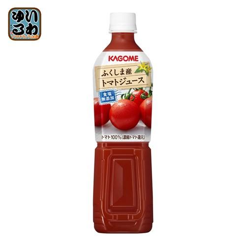 カゴメ ふくしま産トマトジュース 食塩無添加 720ml ペットボトル 30本 (15本入×2 まとめ買い)