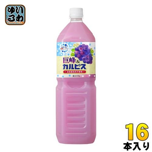 アサヒ カルピス 巨峰 カルピス 1.5L ペットボトル 16本 (8本入×2 まとめ買い)