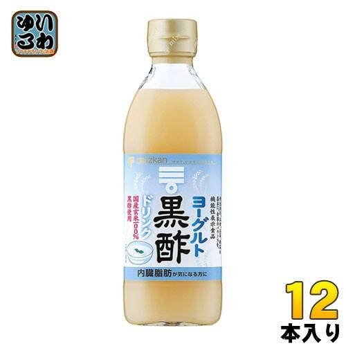 ミツカン ヨーグルト黒酢 6倍希釈用 500ml 瓶 12本 (6本入×2 まとめ買い)