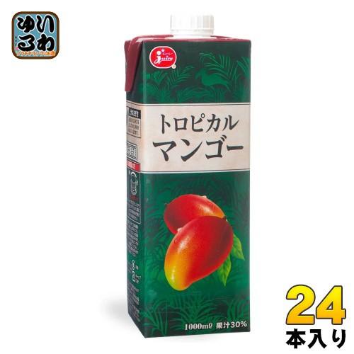 ジューシー トロピカルマンゴー 1000ml 紙パック 24本 (6本入×4 まとめ買い)