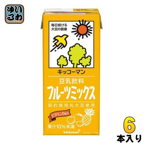 キッコーマン 豆乳飲料 フルーツミックス 1L 紙パック 6本入