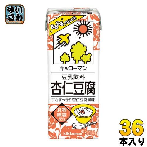 キッコーマン 豆乳飲料 杏仁豆腐 200ml 紙パック 36本 (18本入×2 まとめ買い)