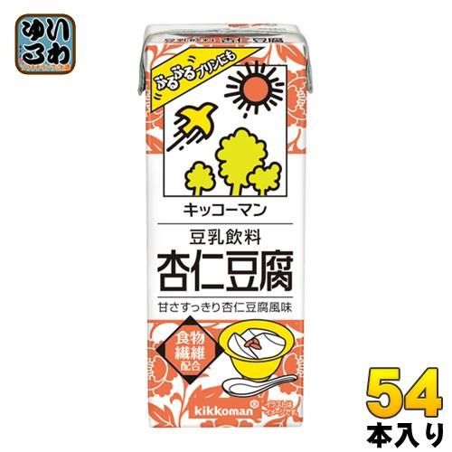 キッコーマン 豆乳飲料 杏仁豆腐 200ml 紙パック 54本 (18本入×3 まとめ買い)