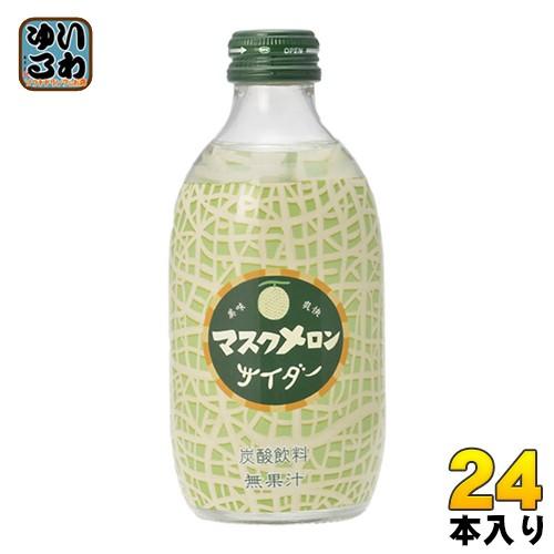 友桝飲料 マスクメロンサイダー 300ml 瓶 24本入