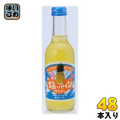 友桝飲料 塩 パインサイダー 245ml 瓶 48本 (24本入×2 まとめ買い)