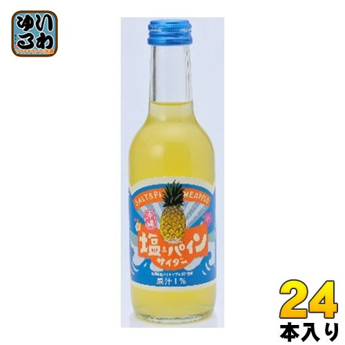 友桝飲料 塩 パインサイダー 245ml 瓶 24本入