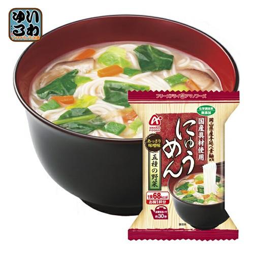 アマノフーズ フリーズドライ にゅうめん 五種の野菜 18.5g 48個入