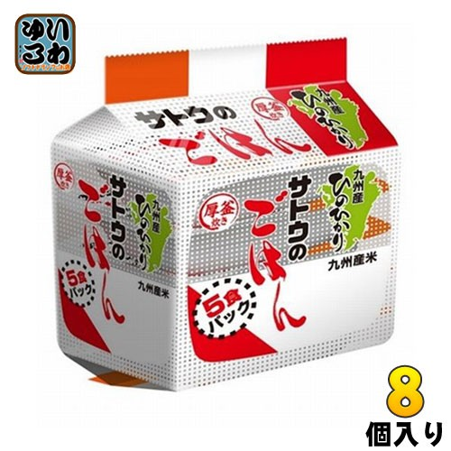 佐藤食品 サトウのごはん 九州産ひのひかり 200g 5食パック×8個入