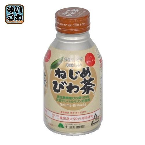 十津川農場 ねじめびわ茶 290ml 缶 48本 (24本入×2 まとめ買い)