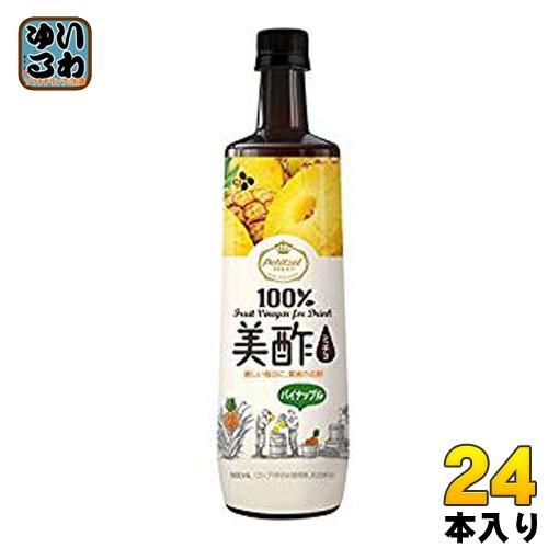 CJジャパン プティチェル美酢(ミチョ) パイナップル 900ml ボトル 24本 (12本入×2 まとめ買い)