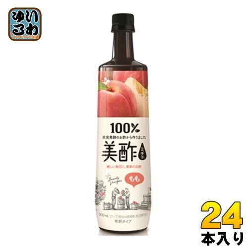 CJジャパン プティチェル美酢(ミチョ) もも 900ml ボトル 24本 (12本入×2 まとめ買い)