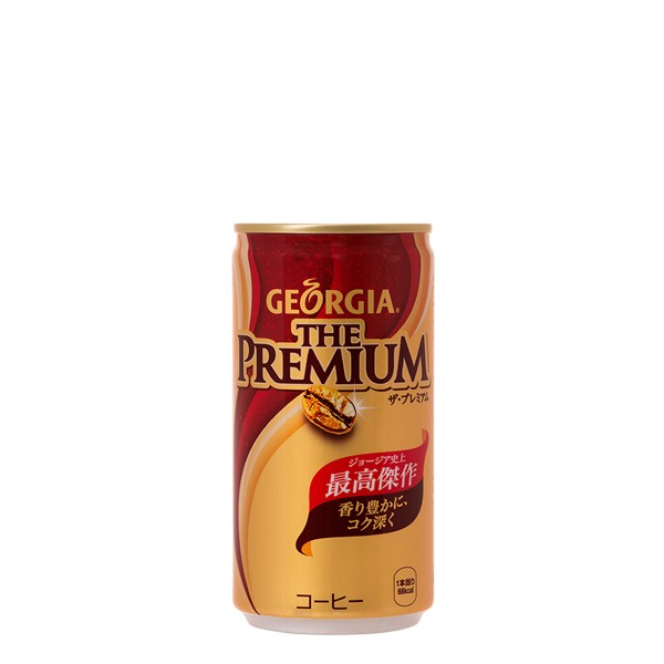 【全国送料無料】【4ケースセット】ジョージアザ・プレミアム 185g缶