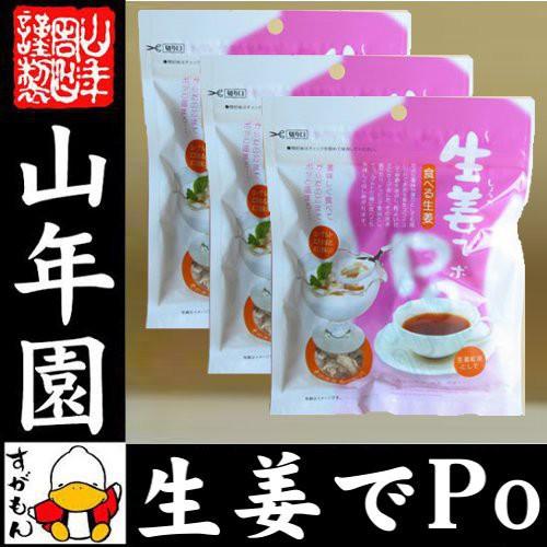 生姜でPo 60g×3袋セット 生姜(100%)をスライス しょうが ショウガ 健康 ダイエット ギフト 贈り物 ぽかぽか お土産 おみやげ 送料無料