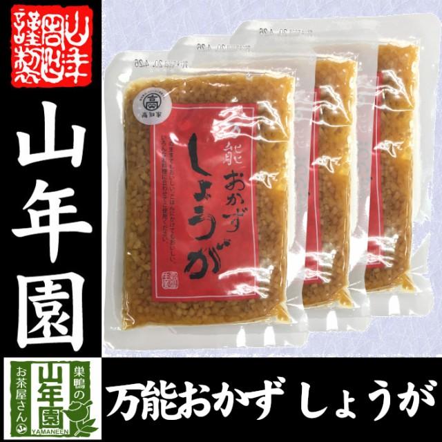 【国産】万能おかず生姜 130g×3袋セット 高知県産のしょうがしょうゆ漬(刻み)高知家 焼き魚の付け合わせ 豆腐の薬味 お好み焼きの具材