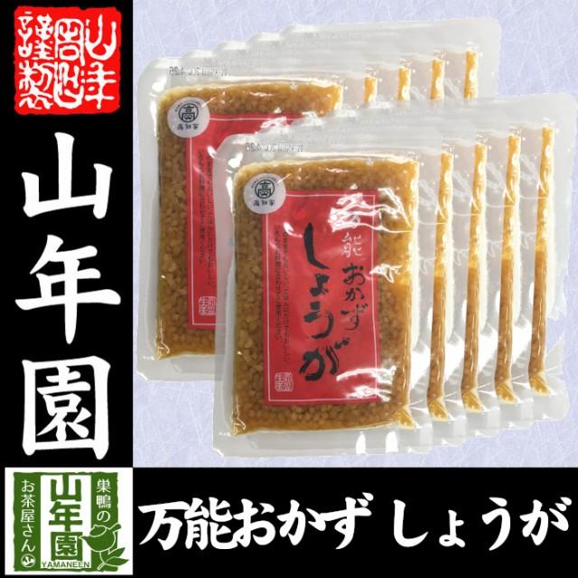 【国産】万能おかず生姜 130g×10袋セット 高知県産のしょうがしょうゆ漬(刻み)高知家 焼き魚の付け合わせ 豆腐の薬味 お好み焼きの具