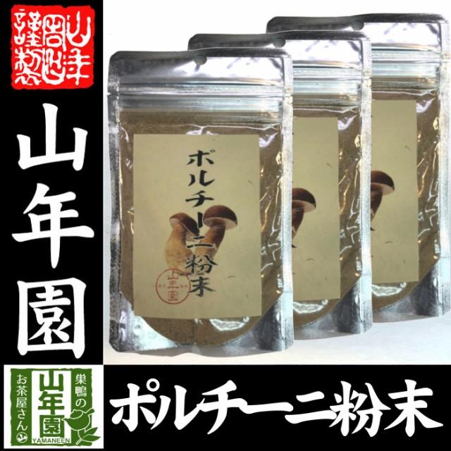 【本場イタリア産無農薬100%】 ポルチーニ茸の粉末 40g×3袋 無農薬で栽培されたポルチーニ茸を温風乾燥させて粉末に 健康 送料無料 緑茶