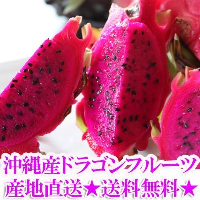 沖縄産ドラゴンフルーツ(レッドピタヤ・レッドドラゴンフルーツ)2.0kg前後(3〜8個)送料無料 ギフト(贈答)や沖縄土産で人気の果物(完