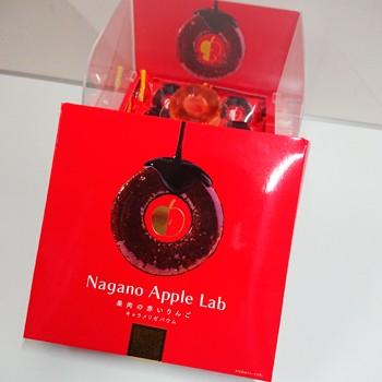 果肉の赤いりんごキャラメリゼバウム6個入(信州長野県のお土産 お菓子 おみやげ 洋菓子 ギフト 長野土産 林檎ケーキ)