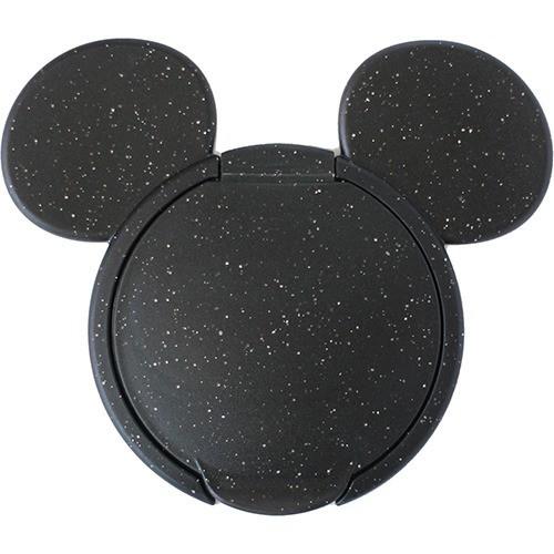【ミッキーマウス ウェットティッシュふた ラメブラック 1コ入】