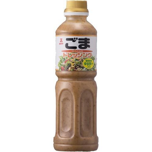★かがや ごまドレッシング ゆず果汁入り 500mL×3個 [代引選択不可]